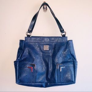 MICHE Navy faux Snakeskin Shell & Base